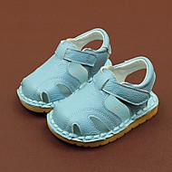 เด็กผู้ชาย / เด็กผู้หญิง รองเท้า หนัง ฤดูร้อน สำหรับการเดินครั้งแรก รองเท้าแตะ เมจิกเทป สำหรับ เด็กทารก ขาว / ฟ้า / สีชมพู / ยาง