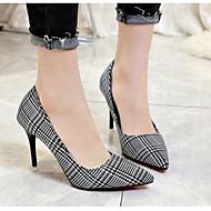 baratos Sapatos Femininos-Mulheres Sapatos Couro Ecológico Primavera & Outono Conforto / Plataforma Básica Saltos Salto Agulha Preto / Cinzento