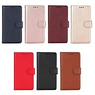 billiga Mobil cases & Skärmskydd-fodral Till Sony Xperia XA2 / Xperia XA1 Plånbok / Korthållare / med stativ Fodral Enfärgad Hårt PU läder för Xperia XA2 Ultra / Xperia XA2 / Sony Xperia XA1 Ultra