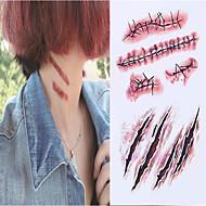 billiga Temporära tatueringar-10 pcs Tatueringsklistermärken tillfälliga tatueringar Tecknad serie Ny Design / Originella Body art Ansikte / arm / handled / Tattoo Sticker