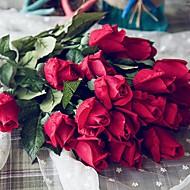 billige Kunstige blomster-Kunstige blomster 6 Gren Klassisk / Singel Stilfull / Pastorale Stilen Roser Bordblomst