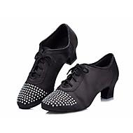 billige Moderne sko-Dame Moderne sko Sateng Oxford / Høye hæler Tykk hæl Dansesko Svart