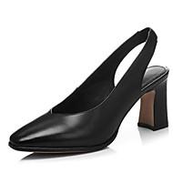 preiswerte -Damen Schuhe Schafspelz Sommer Komfort Cloggs & Pantoletten Blockabsatz Geschlossene Spitze Schwarz / Grau / Mandelfarben
