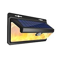 billiga Belysning-1st 4.5 W Solar Wall Light Vattentät / Sol / Infraröd sensor Vit / Bärnstensfärg 3.7 V Utomhusbelysning / Simbassäng / Gård