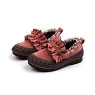 tanie Obuwie dziewczęce-Dla dziewczynek Obuwie PU Jesień & zima Buty dla małych druhen Mokasyny i pantofle Spacery na Dzieci Czarny / Beżowy / Różowy