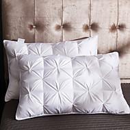 billige Puter-komfortabel overlegen kvalitet seng pute komfortabel pute 100% hvit gås ned + naturgummi 100% bomull