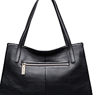 baratos Bolsas de Ombro-zipper da mala a tiracolo do couro do nappa dos sacos das mulheres / preto contínuo