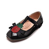 baratos Sapatos de Menina-Para Meninas Sapatos Couro Sintético Primavera & Outono Conforto Rasos Velcro para Infantil / Adolescente Preto / Amêndoa