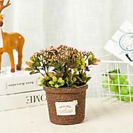 billige Kunstige blomster-Kunstige blomster 1 Gren Mønster Vintage / Pastorale Stilen Planter Bordblomst