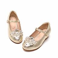 baratos Sapatos de Menina-Para Meninas Sapatos Pele Primavera & Outono Sapatos para Daminhas de Honra / Salto minúsculos para Adolescentes Saltos para Dourado