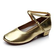 billige Kustomiserte dansesko-Dame Moderne sko Lakklær Sandaler / Høye hæler Tvinning Tykk hæl Kan spesialtilpasses Dansesko Gull
