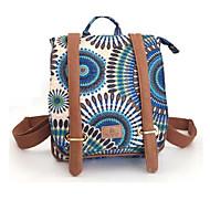 baratos Mochilas-Unisexo Bolsas Tela de pintura mochila Estampa Laranja / Azul Marinha / Roxo