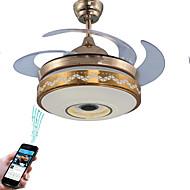 Χαμηλού Κόστους Ανεμιστήρες Οροφής-Ecolight™ Γεωμετρικό / Πρωτότυπες Ανεμιστήρας οροφής Ατμοσφαιρικός Φωτισμός Γαλβανισμένο Μέταλλο Ρυθμιζόμενο, Έλεγχος WIFI, Έλεγχος Bluetooth 110-120 V / 220-240 V RGB Περιλαμβάνεται η πηγή φωτός LED