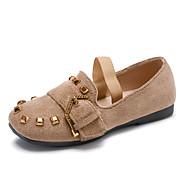 baratos Sapatos de Menina-Para Meninas Sapatos Couro / Couro Ecológico Primavera / Verão Conforto Rasos Tachas para cáqui / Rosa claro / Cáqui / Branco