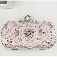 baratos Clutches & Bolsas de Noite-Mulheres Bolsas PU Bolsa de Festa Detalhes em Cristal Rosa