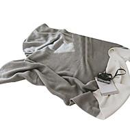 billige Hjemmetekstiler-Strikket, Reaktivt Trykk Geometrisk Bomull / Polyester tepper
