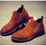 baratos Sapatos Masculinos-Homens Fashion Boots Camurça Outono / Inverno Clássico / Casual Botas Manter Quente Botas Curtas / Ankle Gradiente Cinzento / Marron / Vinho