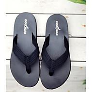 baratos Sapatos Masculinos-Homens Sapatos Confortáveis Linho Verão Casual Chinelos e flip-flops Preto / Cinzento / Vinho