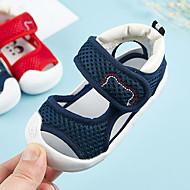 baratos Sapatos de Menino-Para Meninos / Para Meninas Sapatos Algodão Verão Primeiros Passos Sandálias Velcro para Bebê Azul Escuro / Vermelho