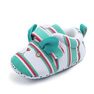 baratos Sapatos de Menina-Para Meninas Sapatos Algodão Primavera & Outono Primeiros Passos Tênis Velcro para Bebê Verde / Rosa claro / Rosa Claro / Listrado / Estampa Colorida