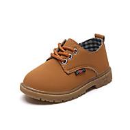 baratos Sapatos de Menino-Para Meninos Sapatos Pele Napa Outono & inverno Conforto Oxfords Caminhada Cadarço para Infantil Preto / Castanho Claro / Castanho Escuro