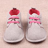 baratos Sapatos de Menino-Para Meninos Sapatos Camurça Primavera & Outono Primeiros Passos Tênis Cadarço para Bebê Bege / Azul Escuro / Estampa Colorida