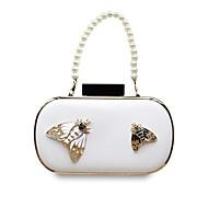 baratos Clutches & Bolsas de Noite-Mulheres Bolsas PU Bolsa de Festa Botões Branco