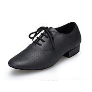 billige Kustomiserte dansesko-Herre Moderne sko Nappa Lær Oxford MiniSpot Kubansk hæl Kan spesialtilpasses Dansesko Svart / Trening / Ytelse