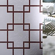 Χαμηλού Κόστους Πώληση-Window Film & αυτοκόλλητα Διακόσμηση Ματ / Σύγχρονο Γεωμετρικό PVC Αυτοκόλλητο παραθύρου / Ματ