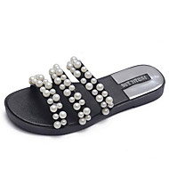 Dames Comfort schoenen PVC Lente Sandalen Platte hak Zwart / Beige / Roze