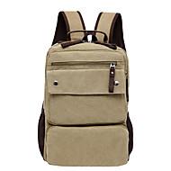 Муж. Мешки холст рюкзак Молнии Коричневый / Военно-зеленный / Хаки
