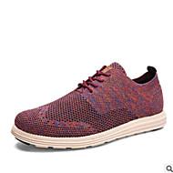 baratos Sapatos Masculinos-Homens Sapatos Confortáveis Tricô Primavera Oxfords Preto / Cinzento / Roxo