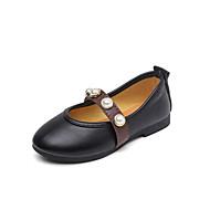 baratos Sapatos de Menina-Para Meninas Sapatos Couro Ecológico Outono & inverno Sapatos para Daminhas de Honra Rasos Caminhada Presilha para Infantil Preto / Bege / Rosa claro