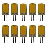 billige Bi-pin lamper med LED-10pcs 2.5 W 180 lm G4 LED-lamper med G-sokkel T 1 LED perler COB Nytt Design Varm hvit / Kjølig hvit 220-240 V
