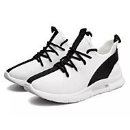 baratos Sapatos Masculinos-Homens Couro Ecológico Outono Conforto Tênis Caminhada Branco / Preto / Vermelho