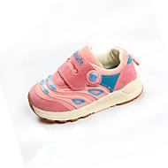 baratos Sapatos de Menina-Para Meninas Sapatos Couro Ecológico Primavera Verão Conforto Tênis Caminhada para Infantil Preto / Cinzento / Rosa claro