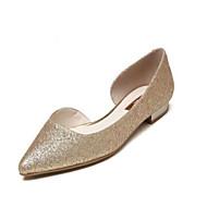 baratos Sapatos Femininos-Mulheres Sapatos Confortáveis Sintéticos Primavera Verão Rasos Sem Salto Dourado / Azul Escuro / Arco-íris