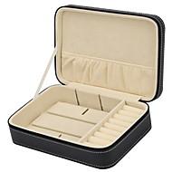 baratos Armazenamento de Bijuteria-Armazenamento Organização Coleção de jóias Mistura de Material Quadrangular Multicamadas