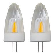 billige Stearinlyslamper med LED-2pcs 3 W 150-200 lm G4 LED-lysestakepærer 1 LED perler COB Dekorativ Varm hvit / Kjølig hvit 220-240 V