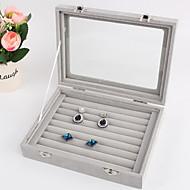baratos Armazenamento de Bijuteria-Armazenamento Organização Coleção de jóias Tecido Forma do retângulo Criativo