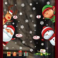 baratos Películas e Adesivos de Janela-Filme de Janelas e Adesivos Decoração Natal Férias / Personagem PVC Adesivo de Janela