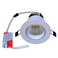 billige Innfelte LED-lys-Jiawen 3 farger utskiftbare led downlight 5w cob forsynt ledet panel lyspunkt taket ned lyset varm / naturlig / kald hvit ac100-240v