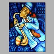 halpa -Hang-Painted öljymaalaus Maalattu - Abstrakti / Ihmiset Moderni Kangas