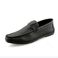 baratos Sapatos Masculinos-Homens Couro Sintético Outono Mocassim Mocassins e Slip-Ons Preto / Vinho