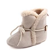 baratos Sapatos de Menina-Para Meninas Sapatos Algodão Outono & inverno Primeiros Passos Botas Cadarço para Bebê Fúcsia / Vermelho / Khaki