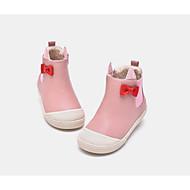baratos Sapatos de Menina-Para Meninas Sapatos Couro Ecológico Outono & inverno Conforto Botas Laço para Infantil / Bébé Dourado / Rosa claro