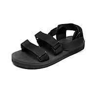baratos Sapatos Masculinos-Homens Tricô Verão Conforto Sandálias Preto / Vermelho