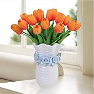 billige Kunstige blomster-Kunstige blomster 8.0 Gren Klassisk / Singel Rustikk / Enkel Stil Tulipaner Bordblomst