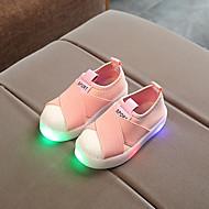 tanie Obuwie chłopięce-Dla chłopców / Dla dziewczynek Obuwie Płótno Wiosna & jesień Wygoda / Świecące buty Tenisówki LED na Dzieci / Brzdąc Czarny / Szary / Różowy