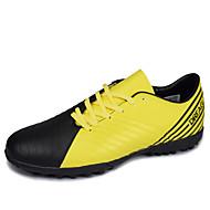 baratos Sapatos Masculinos-Homens Couro Ecológico Outono Conforto Tênis Futebol Estampa Colorida Branco / azul / Preto / Amarelo